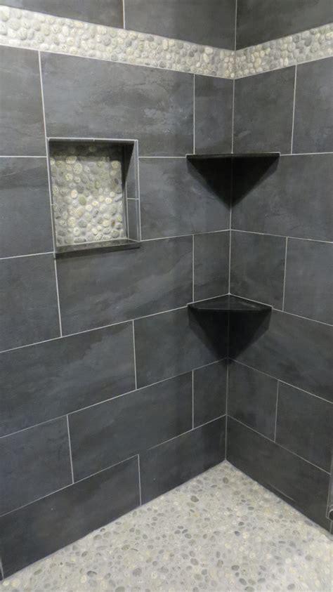 floor impressive pebble shower floor  fascinating