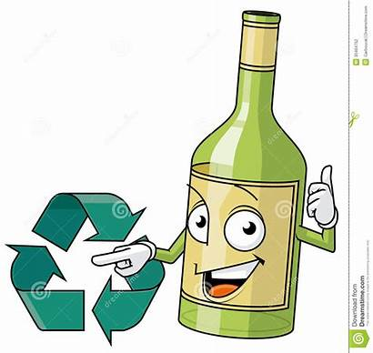 Recycle Glass Clipart Recycled Illustration Bottles Isolated