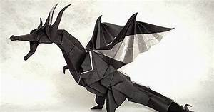 how to make a paper dragon ~ origami instructions art and