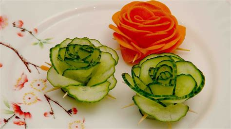 cucumber salad decoration vegetable decoration green cucumber food decoration