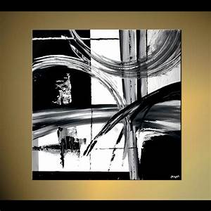 Painting - black and white abstract painting decor #4604
