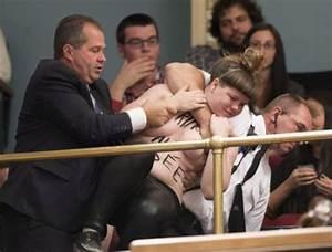 Screaming nudes disrupt legislature - Canada News ...