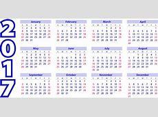 Kalender 2017 Tagesordnung · Kostenlose Vektorgrafik auf