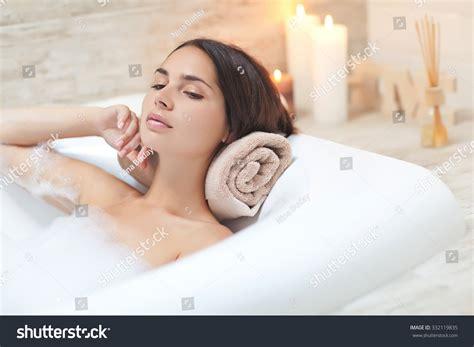 beautiful woman bathroom stock photo  shutterstock