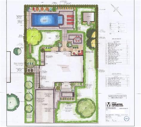plan amenagement exterieur maison plan de terrain complet am 233 nagement jardin piscine