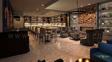 commercial  bar interior rendering design view architizer