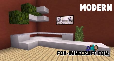 sofa ideas  game furniture minecraft pe