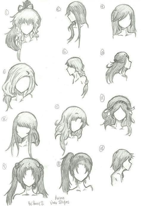 hair styles  draw     draw hair