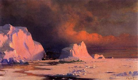 William Bradford The 'panther' In Melville Bay Painting