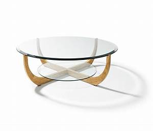 Luxury glass coffee table team 7 juwel wharfside furniture for Glass top circle coffee table