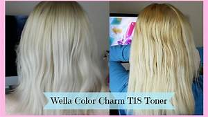 Wella Color Charm Toner Chart Toning Hair Wella Color Charm T18 Toner Youtube