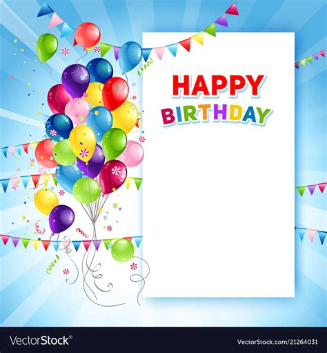 birthday card template festive happy birthday card template royalty free vector