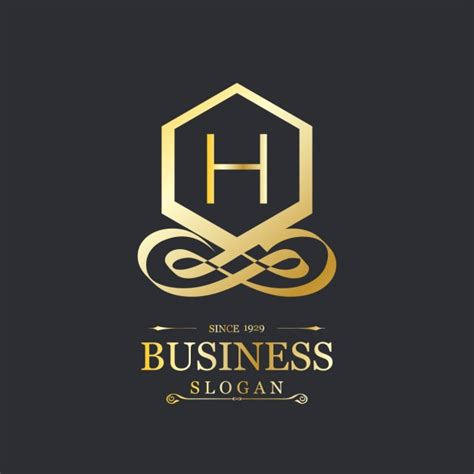 Elegant Gold Logo With The Letter H Vector