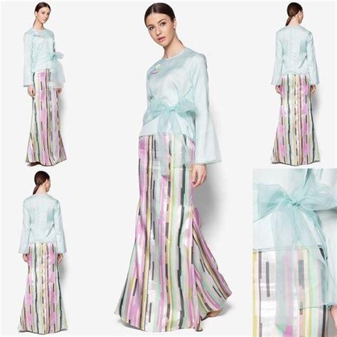 fesyen trend terkini bianco mimosa lioville baju kurung
