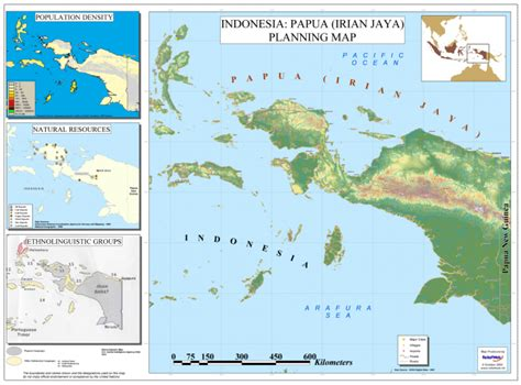 indonesia papua irian jaya planning map indonesia