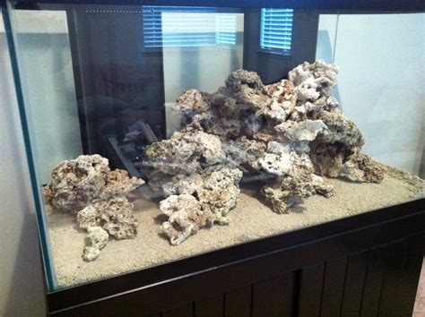 Saltwater Aquarium Aquascape by 120 Gallon Reef Display Aquascape