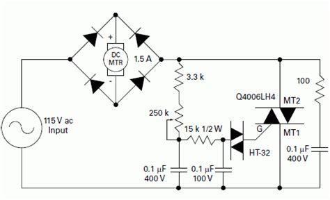 Permanent Magnet Motor Speed Control Schematic