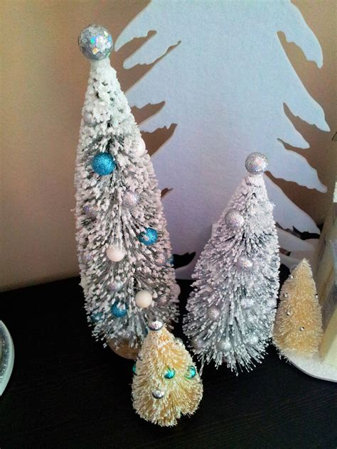 brooklyn designs diy sparkly snow covered bottle brush