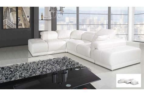 canape convertible cuir blanc canapé d 39 angle blanc benley convertible canapés d