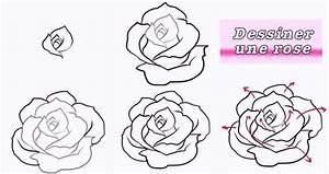 Comment Faire Une Rose En Papier Facilement : dessin tape par tape facile great dessin tape par tape ~ Nature-et-papiers.com Idées de Décoration