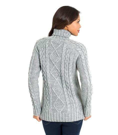 best sweaters woolovers womens wool aran polo neck sleeve knit