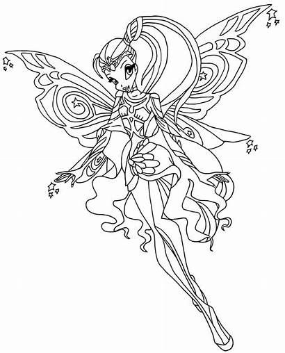 Winx Coloring Bloomix Colorear Dibujos Kaynak