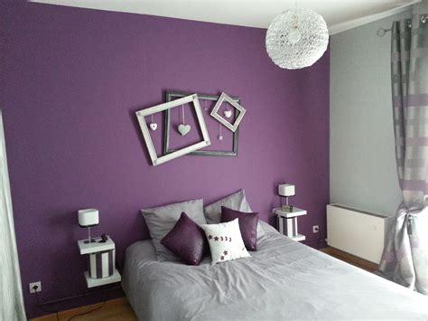 chambre lilas et gris déco chambre mauve gris