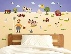 Wandtattoo Kinderzimmer Schmetterlinge : wandsticker kinderzimmer bauernhof wandtattoo tiere ~ Sanjose-hotels-ca.com Haus und Dekorationen
