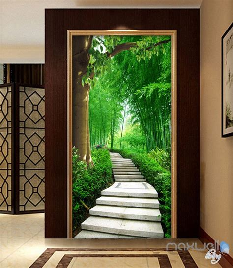3d Wallpapers For House Walls by 3d Forest Tree Corridor Entrance Wall Mural Decals