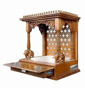 Wooden Temple/Mandir In Teak Wood Aarsun Woods