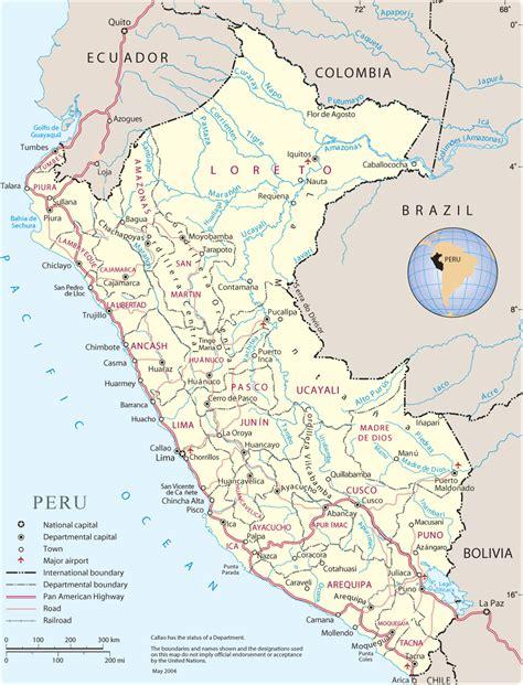 map  peru lima machu picchu