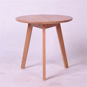 korean japanese style small round table wood coffee table With small round oak coffee table