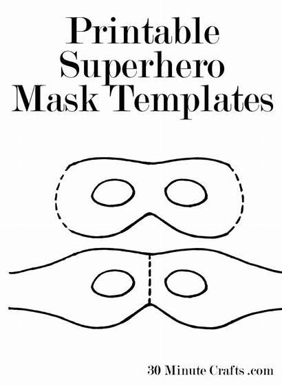 Mask Printable Templates Superhero Halloween Template Crafts