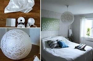 Leuchten Für Schlafzimmer : diy leuchte 26 kreative ideen f r lampen zum selbermachen ~ Lizthompson.info Haus und Dekorationen