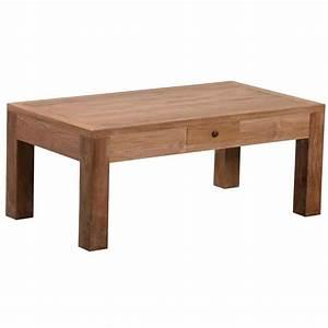 Table Basse Rectangulaire Bois : table basse rectangulaire bois massif teck 110x60x45cm martapura ~ Teatrodelosmanantiales.com Idées de Décoration