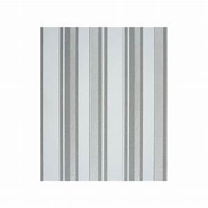 Papier Peint Rayé Noir Et Blanc : papier peint raye gris blanc galerie et papier peint toile ~ Dailycaller-alerts.com Idées de Décoration