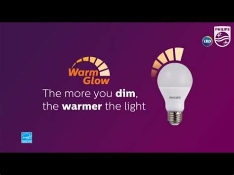 philips warm glow dimmable led light bulbs