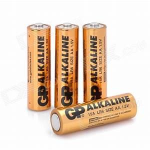 Batterie 1 5v Aa : gp replacement 1 5v alkaline aa battery golden 4 pcs free shipping dealextreme ~ Markanthonyermac.com Haus und Dekorationen