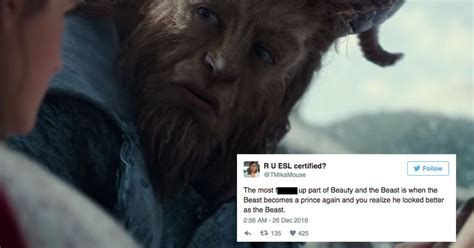 Some 'beauty And The Beast' Fans Think The Beast Is