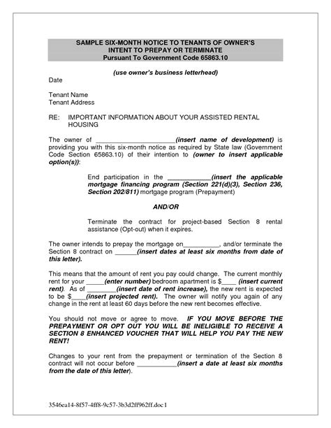notice of rent increase rent increase letter to tenant template uk best photos Ontario