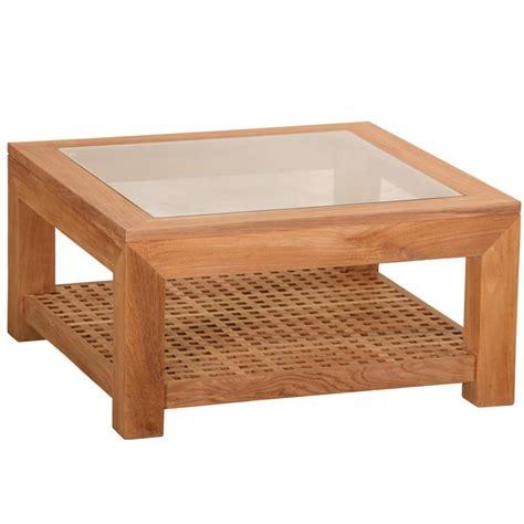 table basse carre verre et bois ezooq
