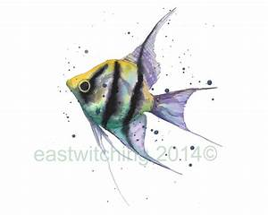 how to paint fish in watercolour | eastwitching