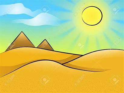 Desert Clipart Clip Landscape Cliparts Sunny Background