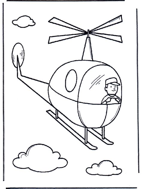 helicopter coloring page toys