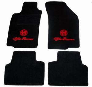 alfa romeo jeu de tapis de sol nuovo gt noir avec embleme With tapis de sol rouge
