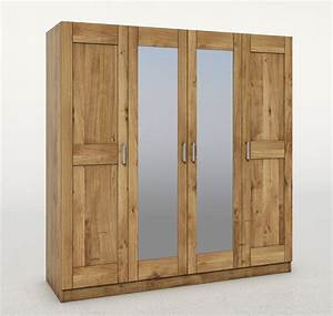 Kleiderschrank Mit Einlegeböden : elfo kleiderschrank teilmassiv mit 2 spiegeln ~ Eleganceandgraceweddings.com Haus und Dekorationen