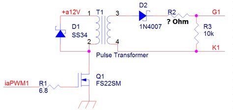Pulse Thyristor Gate Resistor Calculation Electrical