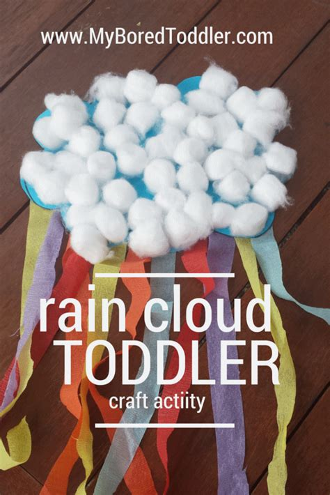 rain activities cloud weather spring toddlers toddler craft preschool crafts olds preschoolers activity projects bored myboredtoddler rainbow daycare rainy arts
