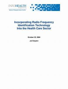 Incorporating Radio Frequency Identification Technology ...