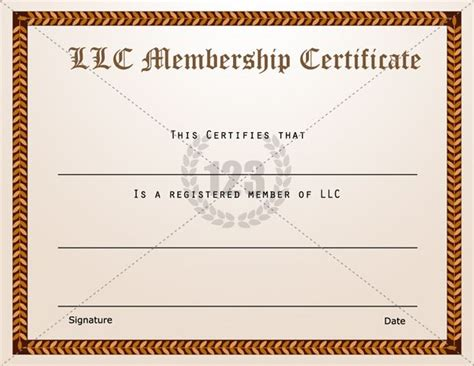 llc membership certificate template membership certificate templates best quality llc free certificate template